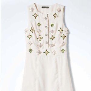 Banana Republic White Embellished Dress